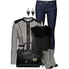 """Houndstooth Shoes"" by ginga1203 on Polyvore"