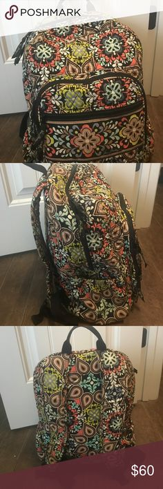 Vera Bradley Backpack Cute colorful backpack with three different pockets and tons of space Vera Bradley Bags Backpacks