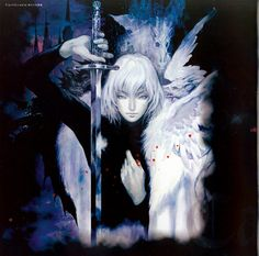 Castlevania: Aria of Sorrow art by Ayami Kojima (a Japanese game and concept artist who is best known for her work on the Castlevania series of video games with Konami)