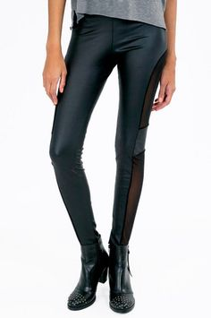 Cut And Mesh Leggings $19 at www.tobi.com