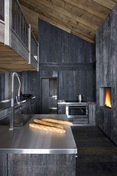 ♂ masculine interior design space Méchant Design: Grey timber