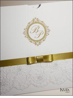 Convite de Casamento Renda
