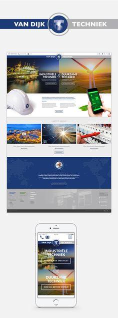 Website voor Van Dijk Techniek, dit is een specialist als het om elektrische en geautomatiseerde installaties gaat.