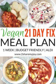 vegan 21 day fix meal plan 1500 to 1800 calories plan B. Budget friendly and hea… vegan 21 day fix meal plan 1500 to 1800 calories plan B. Budget friendly and healthy meal plan for weight loss Weight Loss Meals, Vegan Meal Plans, Vegan Meal Prep, Cheap Vegan Meal Plan, Low Calorie Vegan Meals, Cheap Vegan Meals, Low Carb, Vegan 21 Day Fix, 21 Day Fix Vegetarian