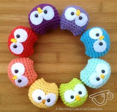 Ravelry: Baby Owl Ornaments by Josephine Wu