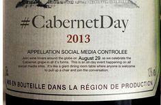 One week until the global celebration of Cabernet aka #CabernetDay 2013  Details: http://cabernetday2013.eventbrite.com/