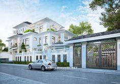 Luxury Homes - Charleston Classic House Exterior, Classic House Design, Dream House Exterior, Dream House Plans, 3 Storey House Design, Bungalow House Design, Contemporary House Plans, Modern House Plans, Villa