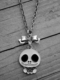The Nightmare Before Christmas Jack Skellington and Bow Necklace by Ink & Roses 13