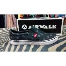 Zapatillas Panchas Airwalk Negro Bulgaro Originales