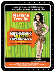 Este viernes GRAN DEBUT de Mariana Treviño en Defendiendo a la Mujer Cavernícola. Madrina: Susana Zabaleta.