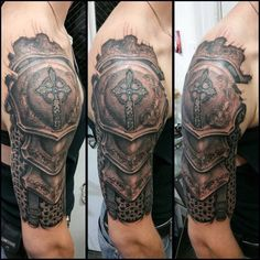 Top 90 Best Armor Tattoo Designs For Men - Walking Fortress Top 90 Best Armor Tattoo Designs For Men - Walking Fortress Half Sleeve Armor Tattoo Body Art Designs For Men. Armor Sleeve Tattoo, Armor Of God Tattoo, Armour Tattoo, Shoulder Armor Tattoo, Full Sleeve Tattoos, Norse Tattoo, Shield Tattoo, Full Body Tattoo, Body Art Tattoos