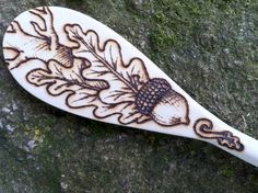 Acorn and Oak Single Spoon by GreenwoodCreations13 on Etsy