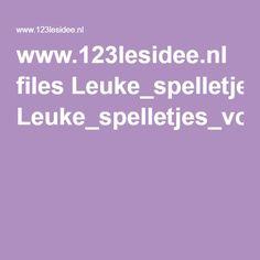 www.123lesidee.nl files Leuke_spelletjes_voor_in_het_zwembad.pdf