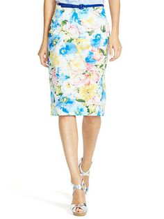 ... Polo Ralph Lauren Floral-Print Pencil Skirt - Polo Ralph Lauren Shop All - Ralph ...