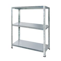 Samson Galvanised Metal Shelving Unit 3 Tier