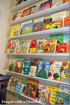 Our nursery - book wall