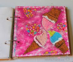 Summer taste art journal page
