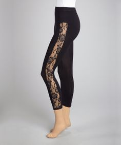Black Lace Panel Leggings mix your prints and add a animal top would make this hot and pop lay off the neons never so make sure you fit something neon!!