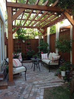 Pergola Patio Pergola Patio Patio Patio attached to house Patio covered Patio diy Patio ideas Patio ideas freestanding Pergola Patio Admirable Small Backyard Ideas for Your Reference Small Pergola, Small Backyard Design, Small Backyard Landscaping, Backyard Pergola, Landscaping Ideas, Pergola Ideas, Backyard Shade, Simple Backyard Ideas, Patio Ideas