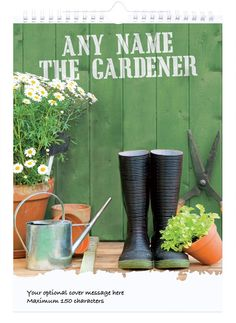 Personalised Gardening Calendar - 3rd Edition | Gifts from GettingPersonal.co.uk