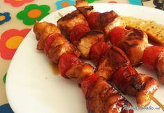 Brochetas de pollo marinado con soja #RecetasGratis #RecetasFáciles #RecetasdeCocina #Pollo #ChickenLovers #Brochetas