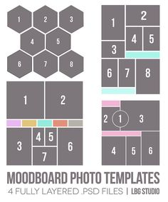 animated gif photoshop template - 2 variations, Presentation templates