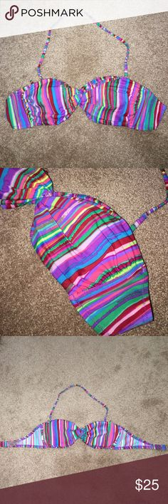 $20! Victoria's Secret Bandeau Bathing Suit Top **$20 today only!!! Worn once! Removable light padding. Strap included to turn the top into a halter! Victoria's Secret Swim Bikinis