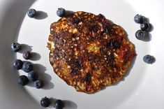 3 Ingredient Blueberry Pancakes - a little hard to keep these pancakes intact, but super easy and delicious. I'd say these taste more like crepes than pancakes.