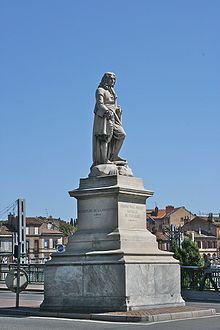 Pierre-Paul Riquet (born in Béziers in 1609 - 1680).  Riquet is the man responsible for building the Canal du Midi, a 240-kilometre-long artificial waterway that links the Garonne to the Mediterranean sea.