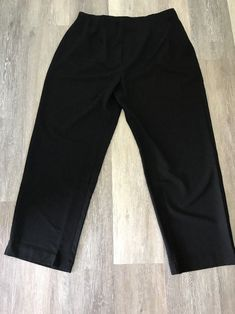 7fcfe80a160 Susan Graver Plus Size 1X Black Hidden Side Zip Pants Elastic Waist New w   Tags