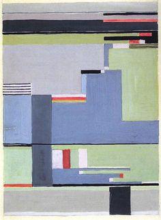 Gunta Stölzl - Bauhaus Master; Design for a carpet 36x25 cm Private collection