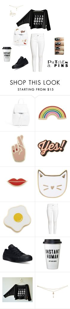 """""""PaTches 'n' pINs"""" by love-u-goodbye ❤ liked on Polyvore featuring Mansur Gavriel, Georgia Perry, Anya Hindmarch, Des Petits Hauts, H&M and Converse"""