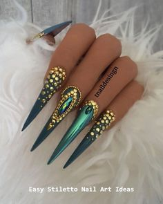 30 große Stiletto Nail Art Design-Ideen – Stiletto Style Nails, You can collect images you discovered organize them, add your own ideas to your collections and share with other people. Glam Nails, Dope Nails, Bling Nails, Beauty Nails, Fun Nails, Beautiful Nail Art, Gorgeous Nails, Pretty Nails, Nail Art Designs
