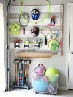 Clear your garage from clutter and chaos with these DIY organization tips. Organize your garage in zones with handy solutions for hanging your gardening supplies, power tools, yard tools and even kids' toys. These tips will ensure you have plenty of room in your garage and everything is easy to find.