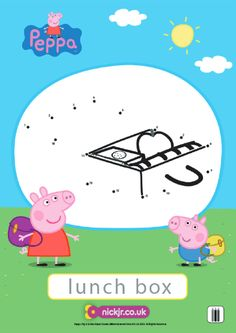 Printable Peppa Pig Reading and Writing Worksheet Free