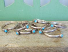Turquoise Stacking Ring Thin Dainty Ring Solitaire Ring Tiny