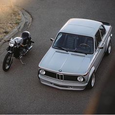 "bikebound: ""Respect Your Elders. BMW 2002 + airhead cafe by @heyitzsushiboi. Found via @kernandhyde :: #bmw #bmwmotorrad #bmw2002 #caferacer #motolove #bmwlove """