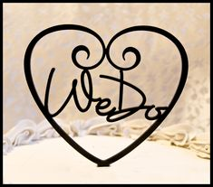 Wedding Cake Topper We Do inside Heart by CakeTopperConnection, $13.95