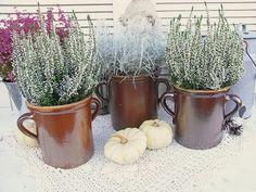Vintage Blumentöpfe - 3x Schmalztopf Vase Übertopf Bunzlau Art Deco - ein Designerstück von artdecoundso bei DaWanda