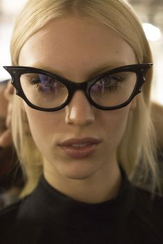 Backstage at Rochas F/W 2014, Paris Fashion Week #glasses #fashion #elements
