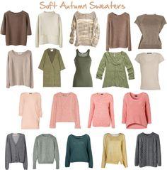 Seasonal Color Analysis for Women of Color: Soft Autumn Sweaters Soft Autumn Deep, Warm Autumn, Autumn Summer, Soft Autumn Color Palette, Looks Style, My Style, Estilo Preppy, Seasonal Color Analysis, Fall Capsule Wardrobe