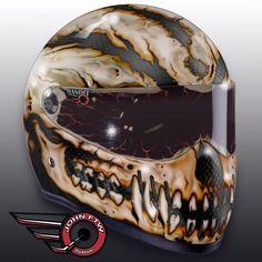 scull old bone style helmet by JohnFTW
