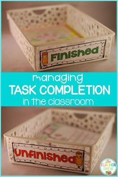 Fast Finishers and Meticulous Incompleters {Finished & Unfinished Trays} Help your elementary students learn how to stay organized and keep all your paperwork in order with the tips and FREE download included at this blog post. Ditch the folders and give these trays a chance in your classroom. Teachers at a variety of levels will love this great tip! {preschool, Kindergarten, 1st, 2nd, 3rd, 4th, 5th, 6th grade}