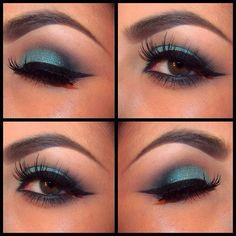 Teal Makeup @ comeoncloserxoxo