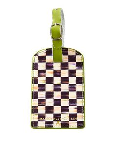 Courtly+Check+Luggage+Tag+by+MacKenzie-Childs+at+Neiman+Marcus.