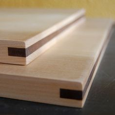 Maple and Walnut Cutting Board Set by PigeonToeCeramics on Etsy