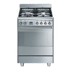 Smeg SUK61PX8 Dual Fuel Cooker, Stainless Steel Online at johnlewis.com