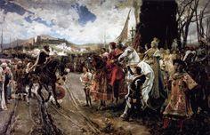 La rendición de Granada. Pintura de Francisco Pradilla y Ortiz (1882)