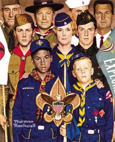 Norman Rockwell Boy Scout Prints from 1924 to 1974
