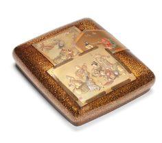 A gold lacquer suzuribako (writing box) and cover Meiji Period